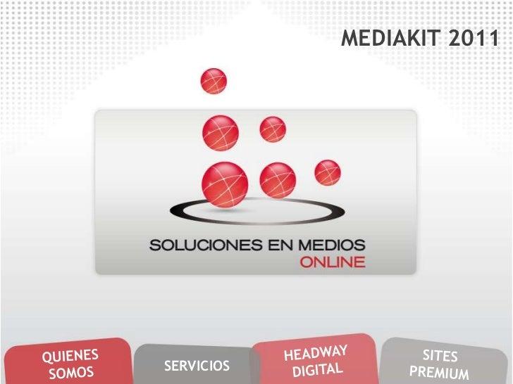 MEDIAKIT 2011SERVICIOS
