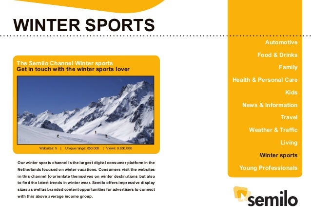 Mediakit Channel Winter Sports (Englisch)