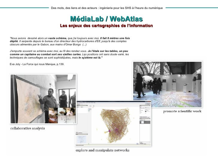 Webatlas à l'inauguration du médialab Sciences Po