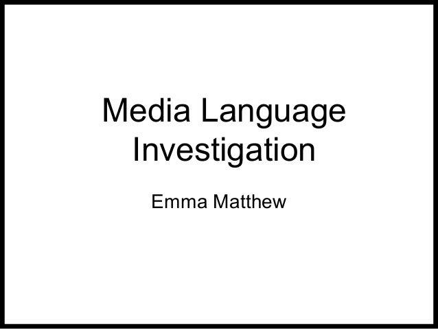 Media language investiation