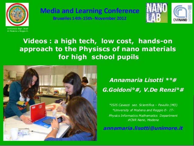 Media and Learning Conference                            Bruxelles 14th-15th- November 2012                               ...
