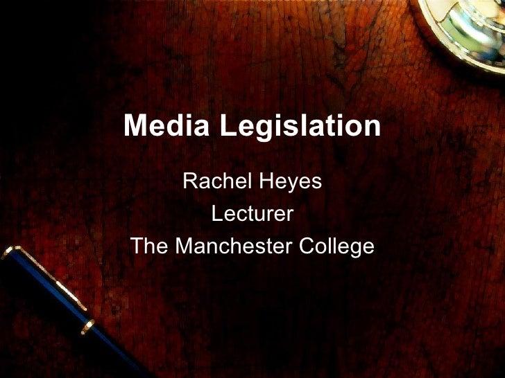 Media legislation