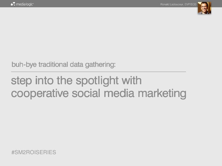Buh-Bye Traditional Data Gathering: Step into the Spotlight with Cooperative Social Media Marketing