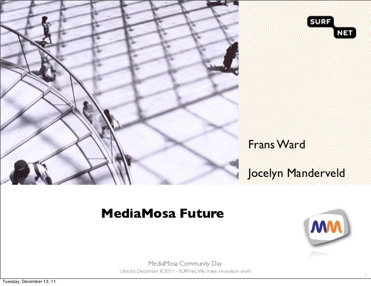 MediaMosa Future - Community day 8 december 2011