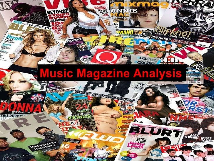 Music Magazine Analysis Yasmine Sadr Music Magazine Analysis