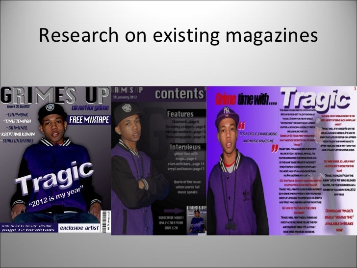 Research on existing magazines