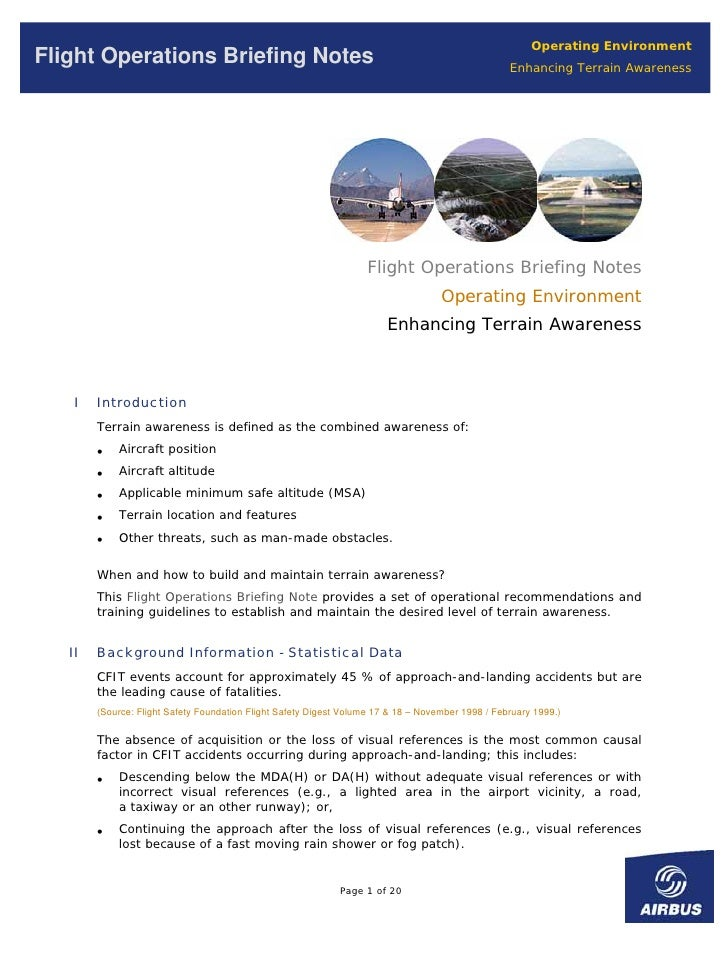 Operating Environment Flight Operations Briefing Notes                                                                   E...