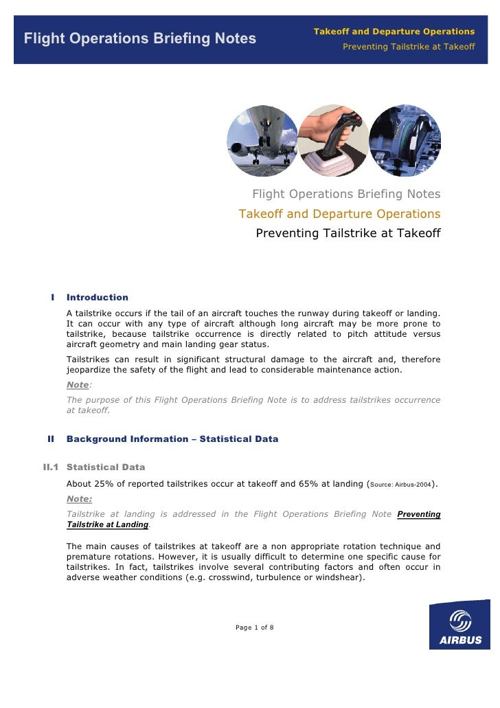 Takeoff and Departure Operations Flight Operations Briefing Notes                                            Preventing Ta...