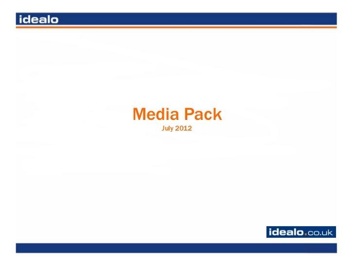 Idealo.co.uk Media Pack July 2012