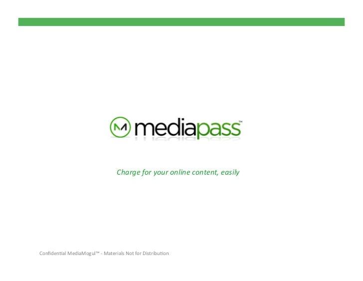 MediaPass Publisher Overview June2011