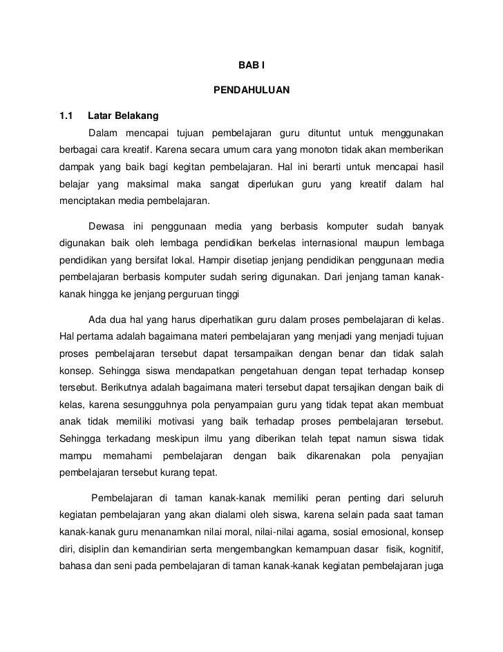 BAB I                                  PENDAHULUAN1.1   Latar Belakang      Dalam mencapai tujuan pembelajaran guru ditunt...