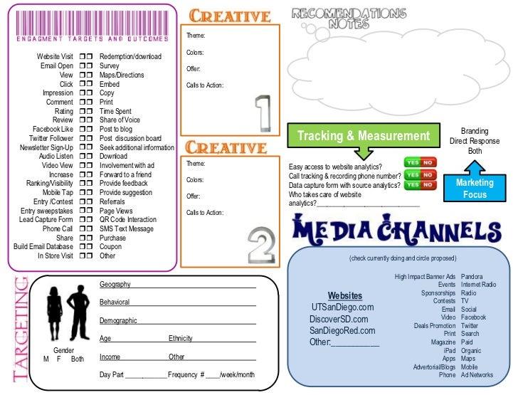 Media Planner Worksheet 2012