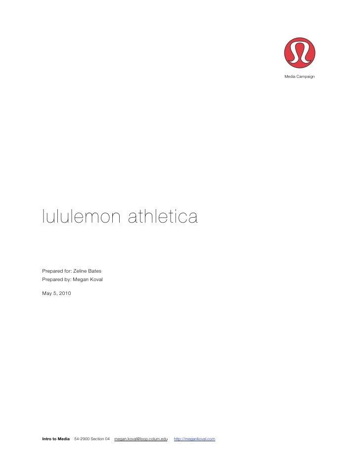 lululemon Media Plan