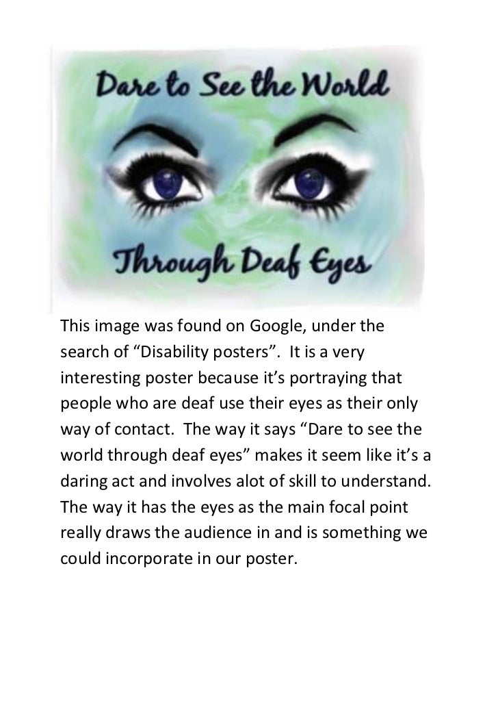 """-285750-228600This image was found on Google, under the search of """"Disability posters"""".  It is a very interesting poster b..."""