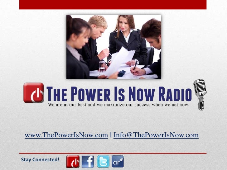 the power is now Media powerpoint v1.3
