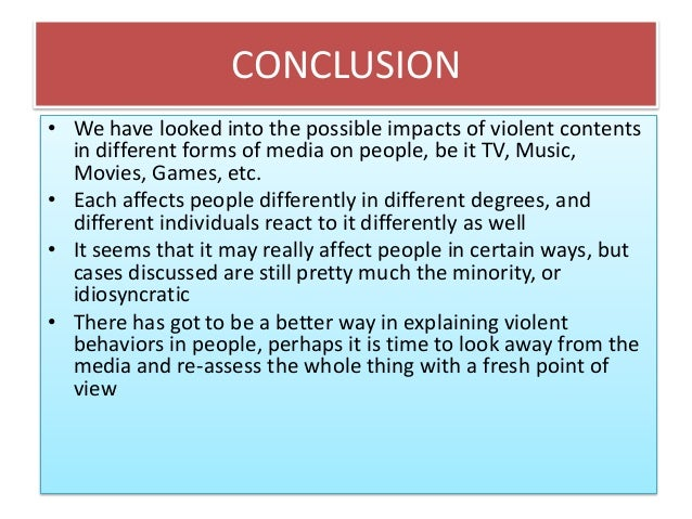a look at the effects of violence in television and movies Despite growing concern about the effects of media violence on children, violent television shows and movies continue to be produced and marketed to them an indiana.
