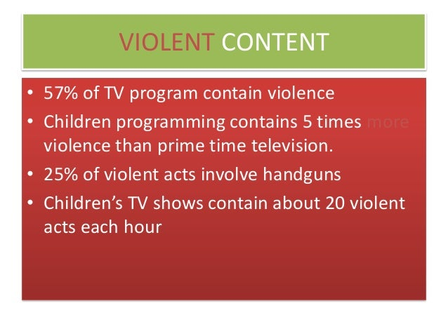 Negative effects of violent media?