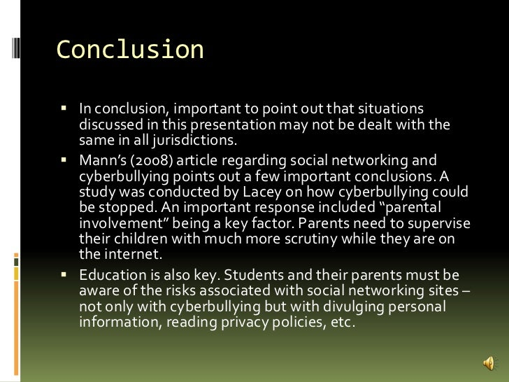 Essay about causes of bullying on Social media