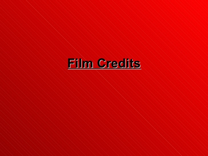 Opening Credits- Examples