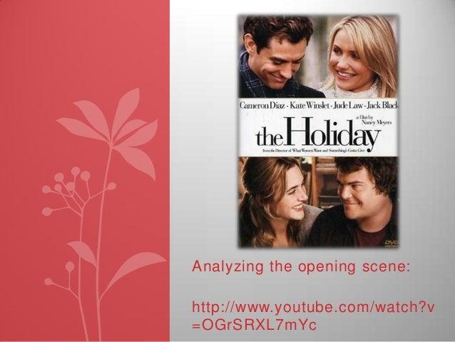 Analyzing the opening scene: http://www.youtube.com/watch?v =OGrSRXL7mYc