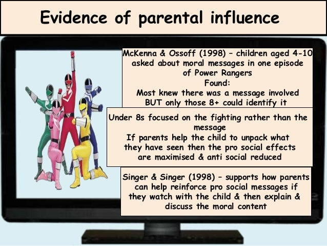 parents influence on children Parents are often said to be the first and best teachers a child has research supports this notion and shows that the influence parents have on their children's education begins as early as preschool parental influence also goes beyond the parent-child relationship and includes parental.
