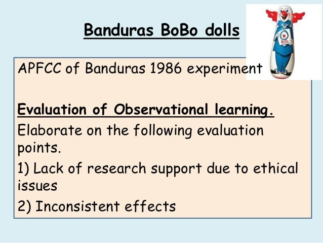 banduras study Albert bandura was born bandura did a large number of variations on the study: bandura's original research on this involved herpephobics-- people with a.