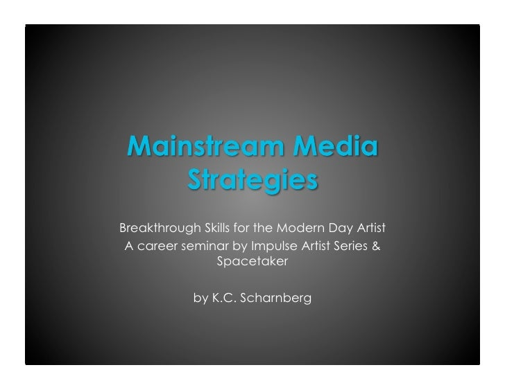 Breakthrough Skills for the Modern Day Artist A career seminar by Impulse Artist Series &               Spacetaker        ...