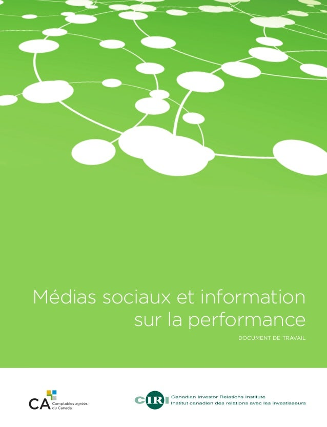 Médias sociaux et information sur la performance document de travail  11-244_Role of Social Media_Cover_French.indd 1  3/...