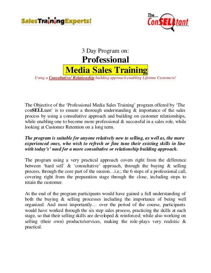 Media sales training