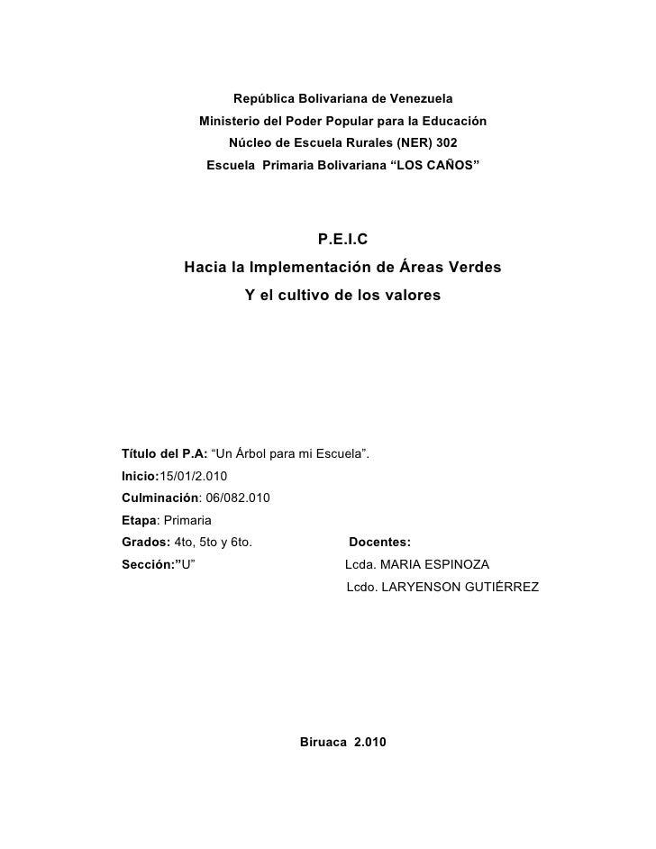 República Bolivariana de Venezuela               Ministerio del Poder Popular para la Educación                      Núcle...