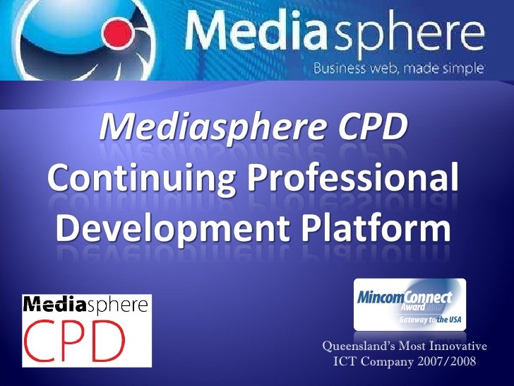 Mediasphere CPD cloud training platform