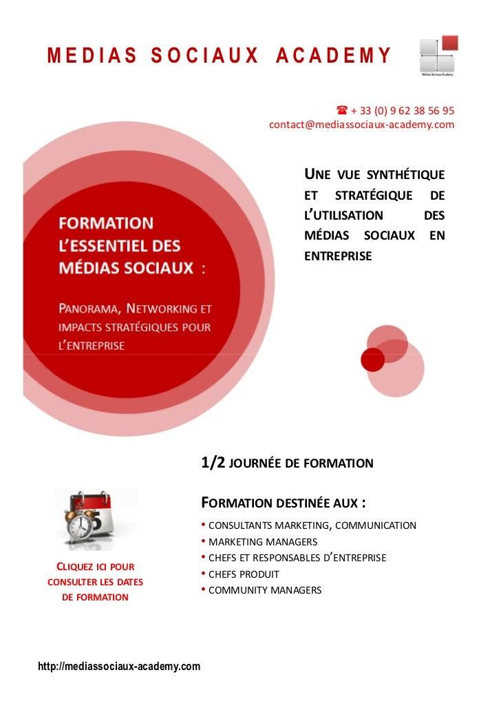 ©Copyright Medias Sociaux Academy 2010   www.mediassociaux-academy.com   Copie ou distribution interdite