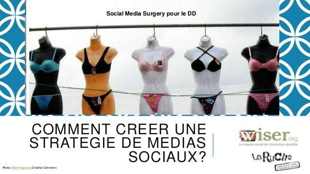COMMENT CREER UNE STRATEGIE DE MEDIAS SOCIAUX?Photo: Allen Furgeson/Creative Commons Social Media Surgery pour le DD
