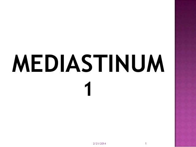 MEDIASTINUM 1 2/21/2014  1