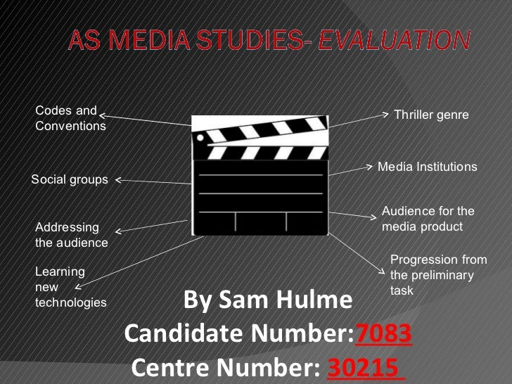 Codes and                           Thriller genreConventions                                  Media InstitutionsSocial gr...