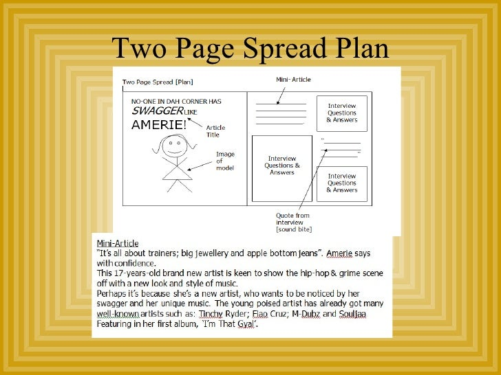 Two Page Spread Plan