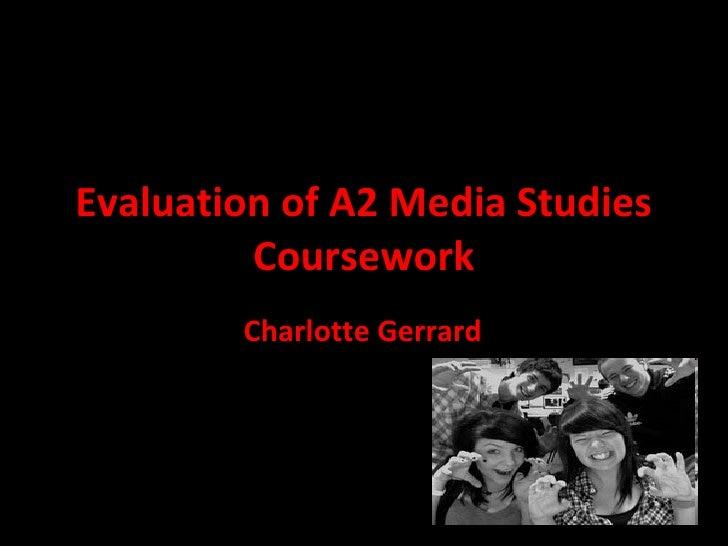 Media studies coursework evaluation
