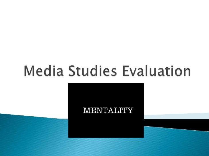 Media Studies Evaluation<br />