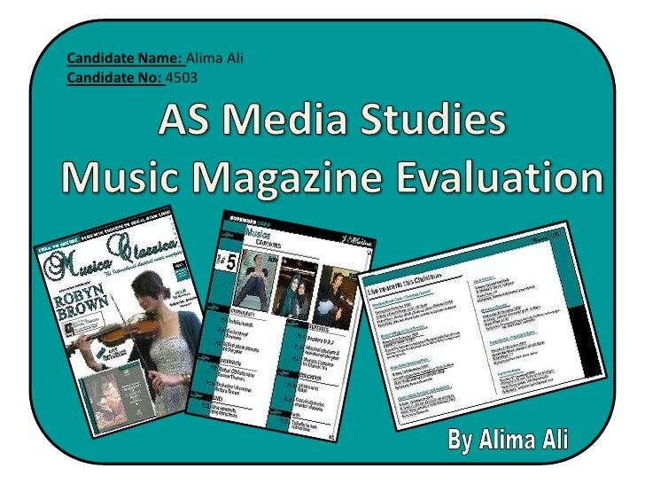 Media Studies Evaluation Slideshow