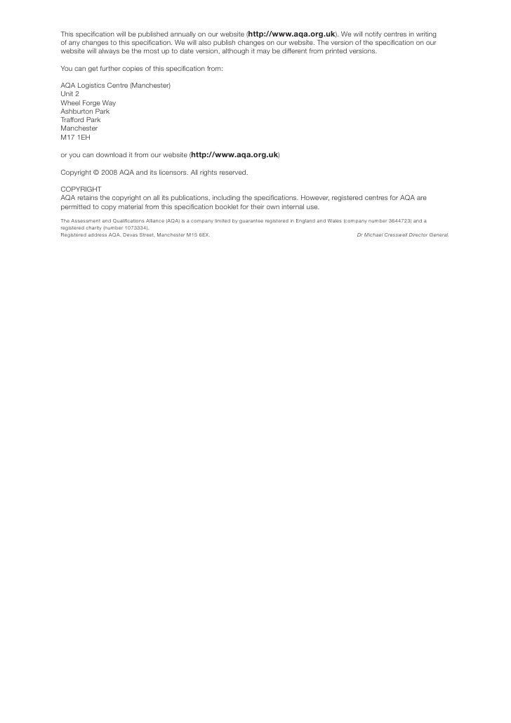 Aqa coursework deadline