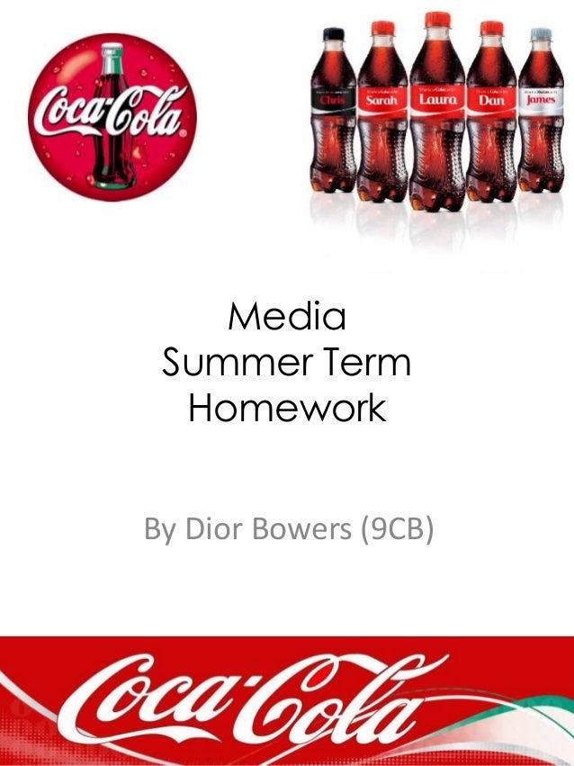 Media Summer Term Homework By Dior Bowers (9CB)