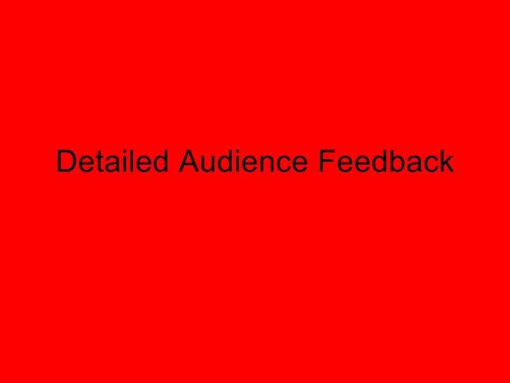 Media Survey Feedback