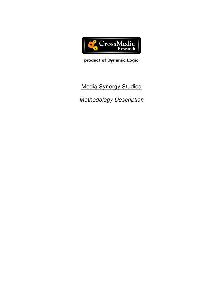 Media synergy studies_methodology