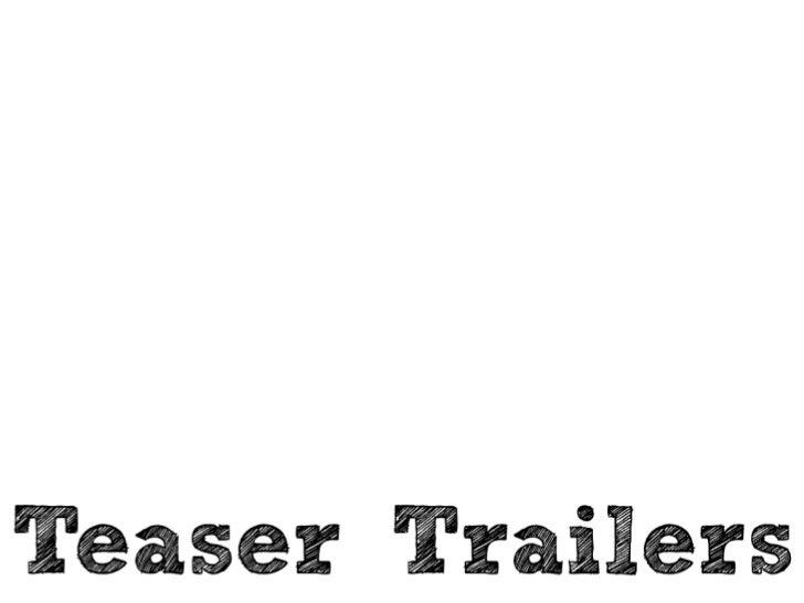 Media Teaser Trailers