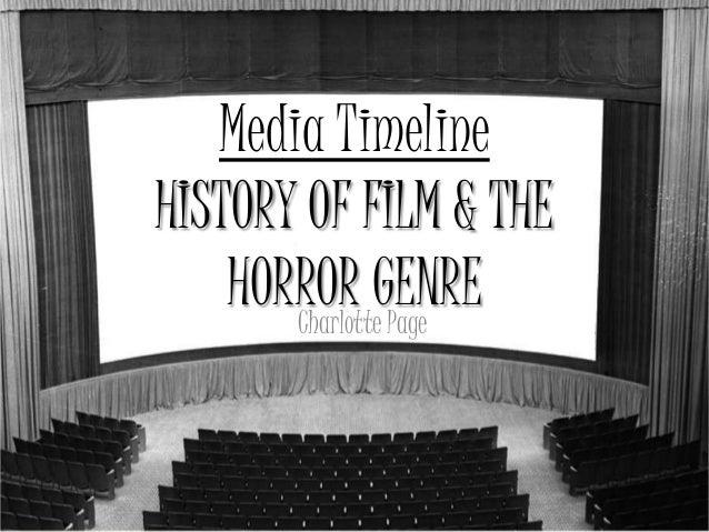 Media TimelineHISTORY OF FILM & THE    HORROR GENRE       Charlotte Page