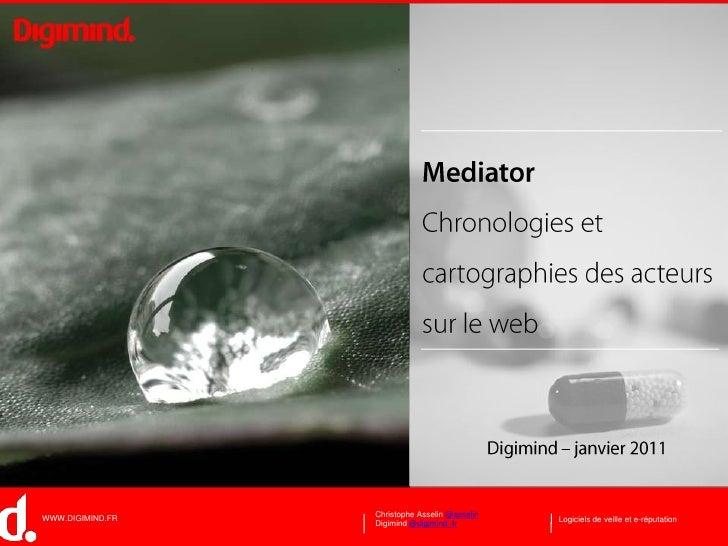 Mediator: Visualisation des Buzz et Cartographies des Acteurs