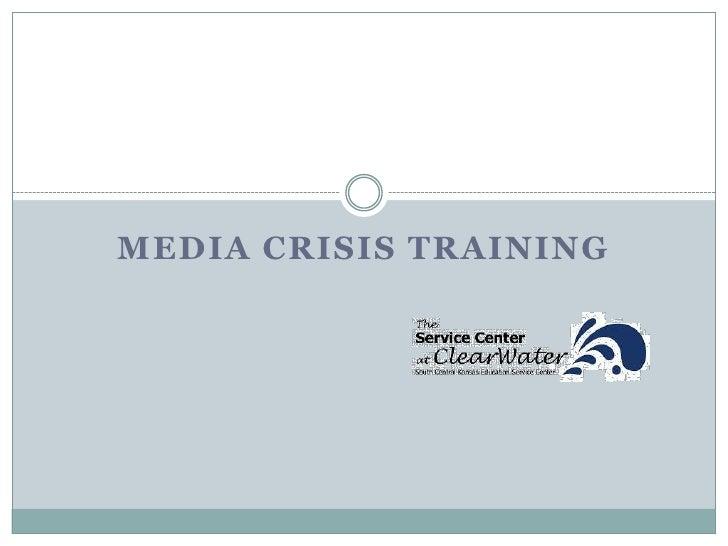 Media Crisis Training<br />
