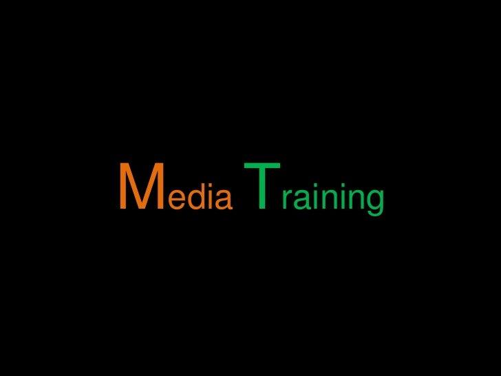 MediaTraining<br />