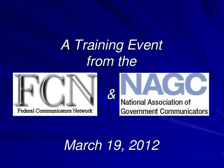 A Training Event    from the       &March 19, 2012
