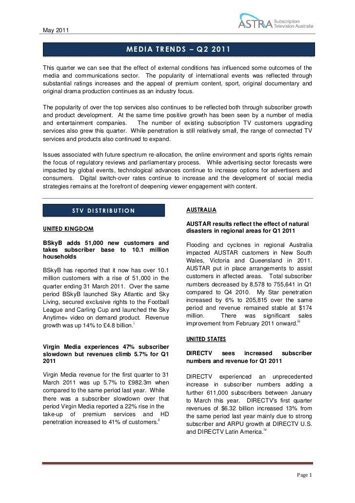 Media Trends Report Q2 2011